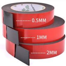 1pcs 0.5mm-2mm de espessura Super Forte Dupla face Fita de espuma Adesiva para Fixação De Montagem Almofada Pegajosa