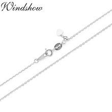 Thin Slide Sliding 925 Sterling Silver Cross Chain Adjustable Choker Necklace Women Girls Jewelry Collier Kolye Ketting 18in 1mm(China)