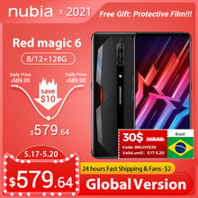 Nubia Red Magic 6/6 Pro Global Versie Gaming Smartphone Redmagic 5G Game Mobiele Telefoon 165Hz Amoled Snapdragon 888 google Play