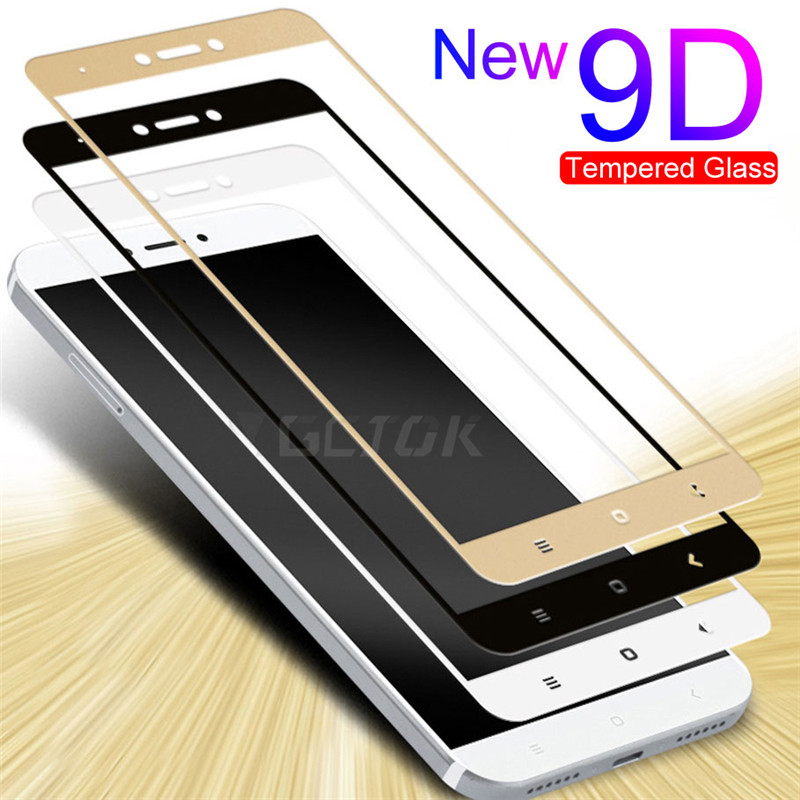 <font><b>9D</b></font> Full Cover Tempered Glass For <font><b>Xiaomi</b></font> <font><b>Redmi</b></font> 5 plus <font><b>4X</b></font> 4A For <font><b>Redmi</b></font> Note <font><b>4X</b></font> 5A S2 Note 4 Global Version Phone Screen Protector image