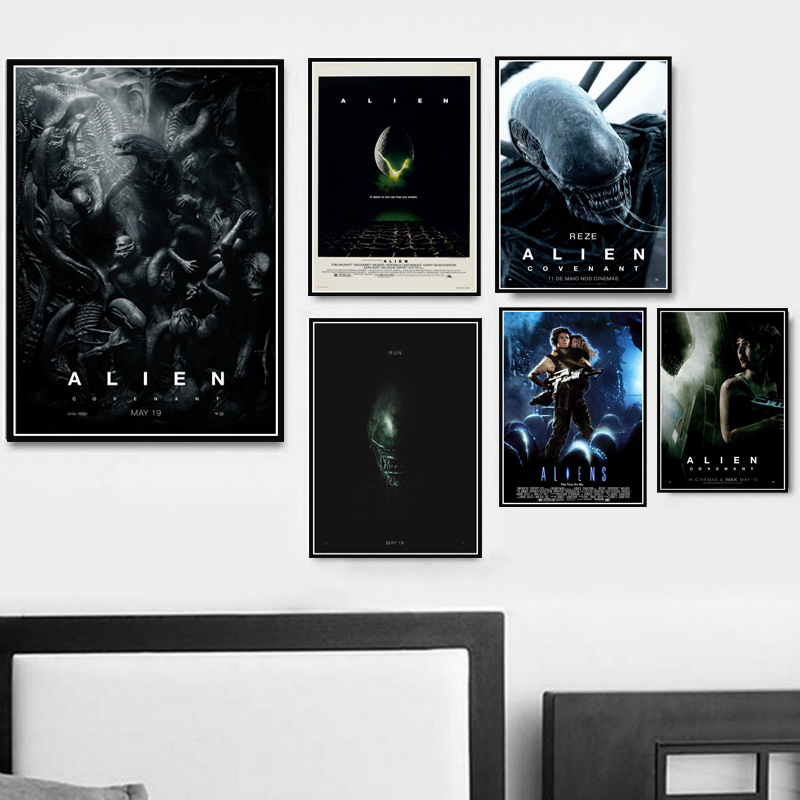 Retro ALIEN COVENANT Horror Movie Film Classic Oil Painting Poster Prints Canvas Art Wall Pictures For Living Room Home Decor