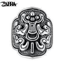 ZABRA 925 Sterling Silver Treasure Umbrella Ring For Men Women Retro Hip Hop Vintage Party Father's Day Male Thai Silver Jewelry цена в Москве и Питере