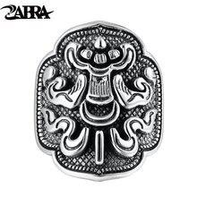 Zabra 925 пробы Серебряное украшение для мужчин женщин Ретро