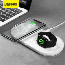 Baseus – Chargeur sans fil rapide 2 en 1, cordon de charge angle multiple pour Apple Watch 5 4 3 10 W, compatibilité avec iPhone 11, Airpods Pro,