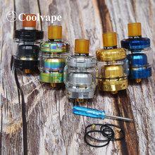 Coolvape zbiornik do e-papierosa przeznaczenie RTA MTL RTA parownik pojedyncza cewka 24mm średnica 2ml 3ml atomizer do elektronicznego papierosa tanie tanio thunderhead creations coolvape MTL RTA Metal Wymienne Black Silver Gold Rainbow Blue