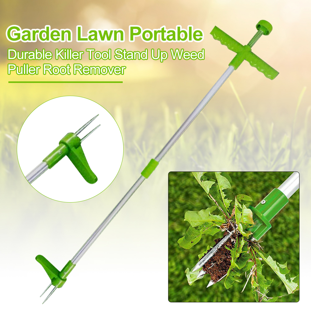 Garden Lawn Killer Tool Stand Up Weed Puller Root Remover Long Handled Lightweight Claw Weeder Portable Durable Manual
