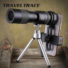 Telescopio Monocular 10-300x40 para teléfono inteligente, prismáticos con Zoom de bolsillo, muy potente, para caza, teleobjetivo, plegado transparente
