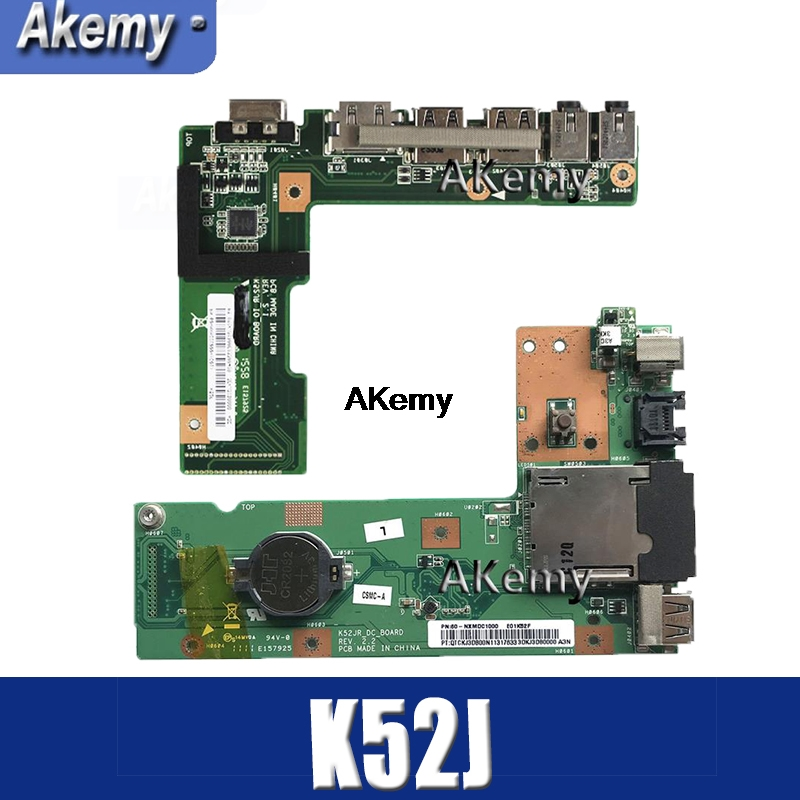 Amazoon  OriginFor ASUS K52 K52J K52JR K52JC K52DR X52F K52F X52J DC Power Jack Audio Board 60-NXMDC1000 100% Tested Fast Ship
