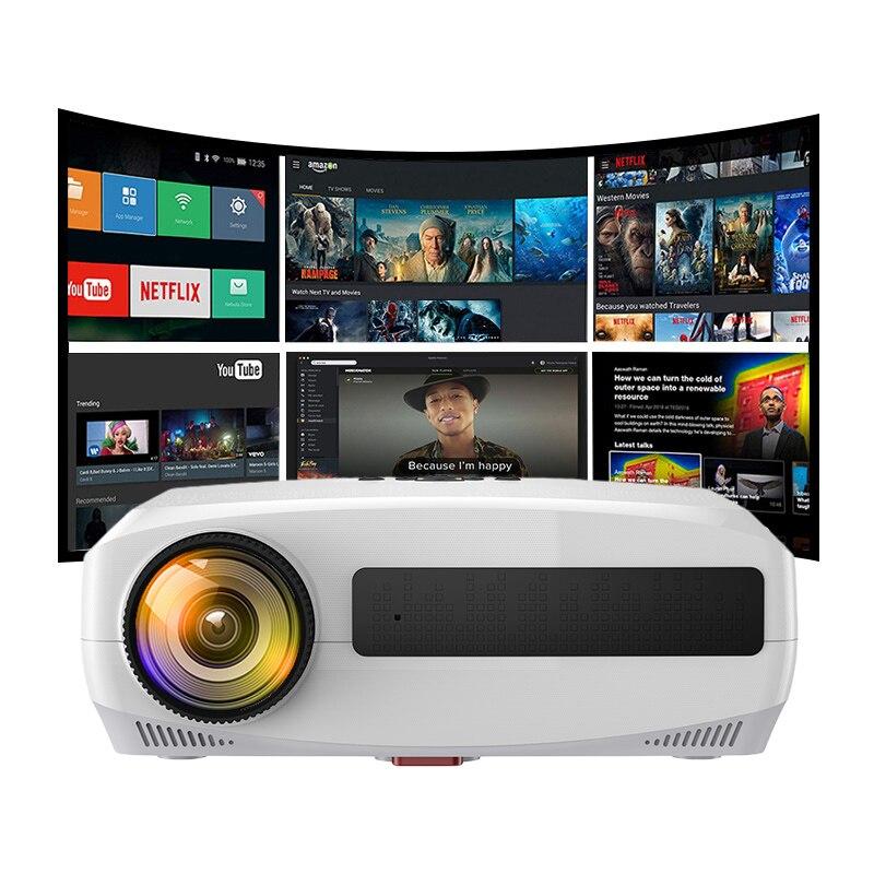 Wzatco c3 novo projetor led android 10.0 wi fi completo hd 1080p 300 polegada grande tela proyector 3d cinema em casa inteligente vídeo beamer-2