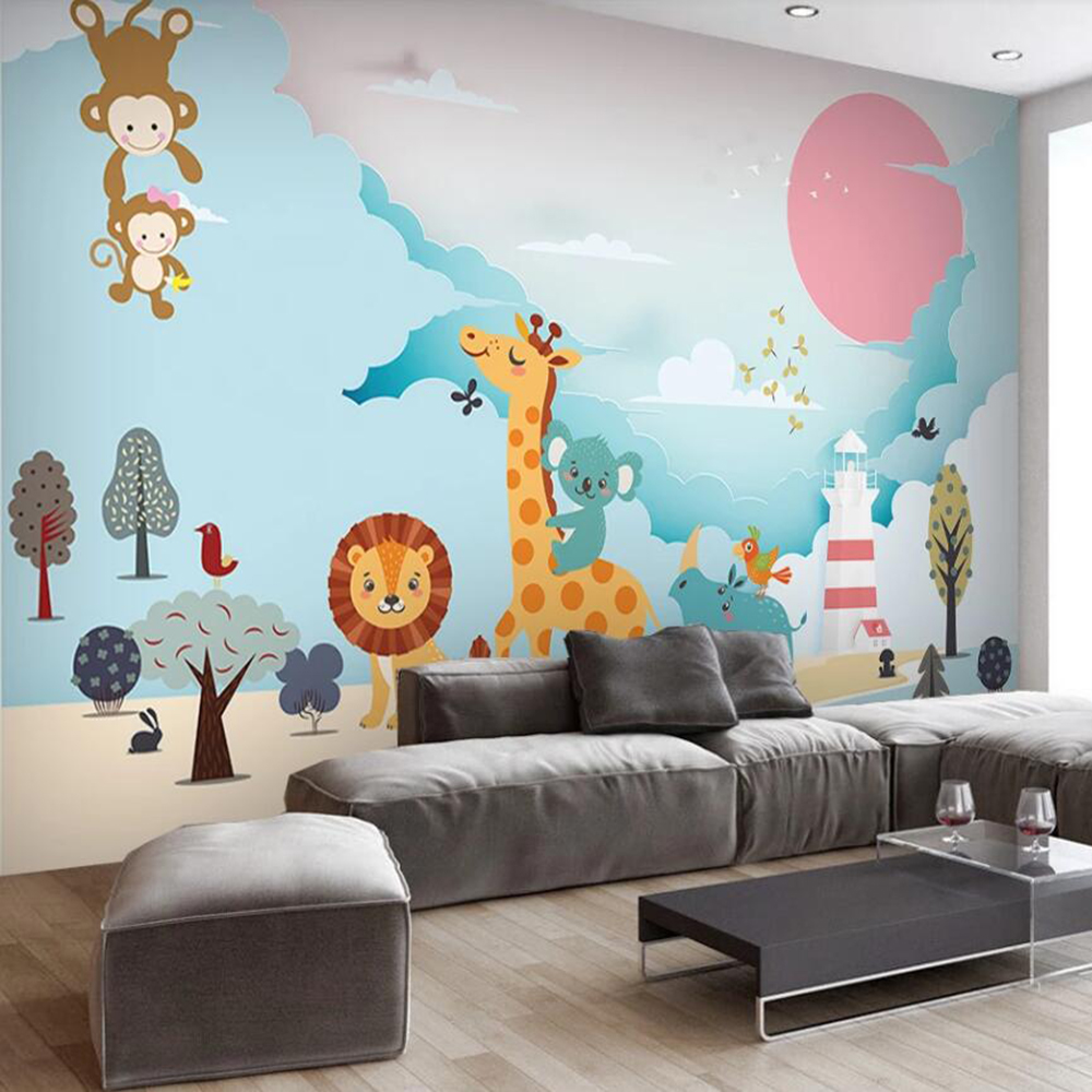 Drop Shipping Custom 3D Photo Wallpaper Fashion Cartoon Children's Room Background Wall Decoration Mural Wallpaper