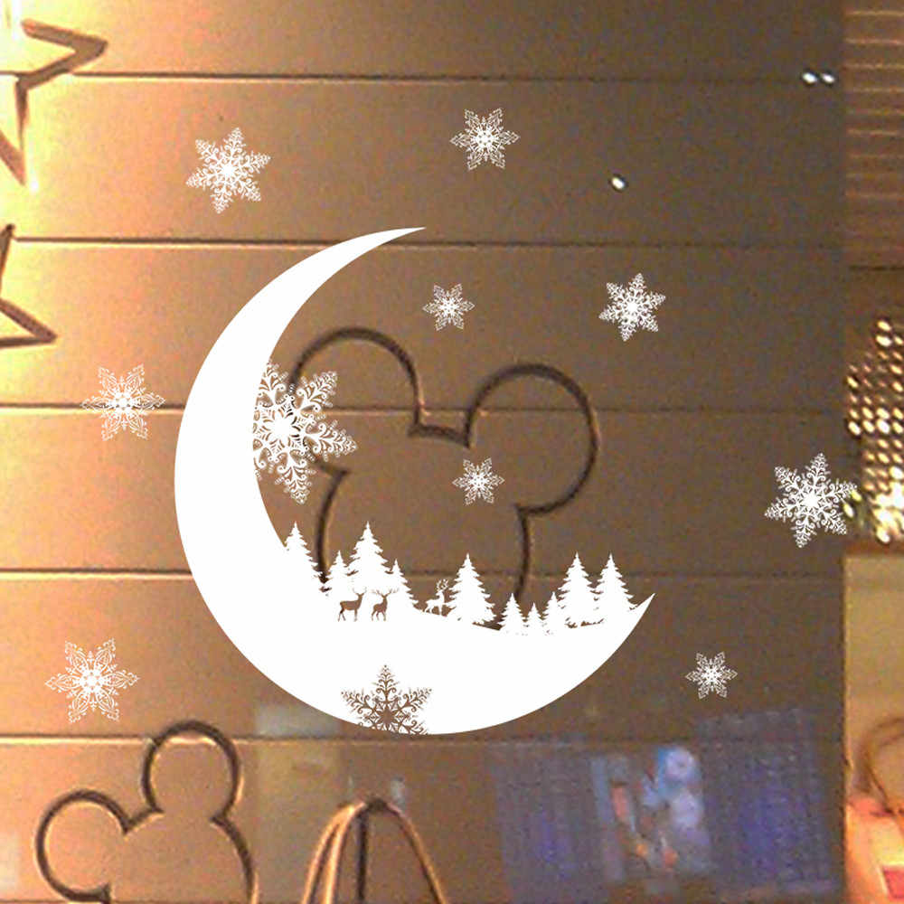 1pc Wall Stickers 25X35cm PVC waterproof Non-toxic Christmas Snow Christmas Snow Decoration Bedroom Wall Stickers Wallpaper