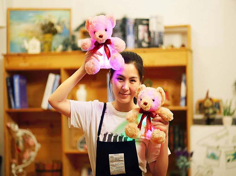 pelúcia adorável pessoal arco urso bonecas crianças meninas aniversário gi