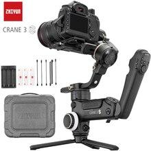 Stabilisateur de cadran manuel à 3 axes pour appareils photos, poignée à gyroscope pour reflex numérique et caméscope, zhiyun crane 3S, axe télescopique, charge utile de 6,5 kg