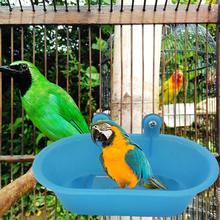 Жердочка для птицы Shower ПЭТ ванна птицы клетки бассейна попугай для ванной бассейна попугай Душ Поставки с зеркалом Еда чаша аксессуары для птиц