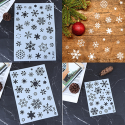 DIY Snow Christmas Holiday Snowflake Layering Stencils Painting Scrapbook Coloring Winter Embossing Decorative Template 3 Sizes