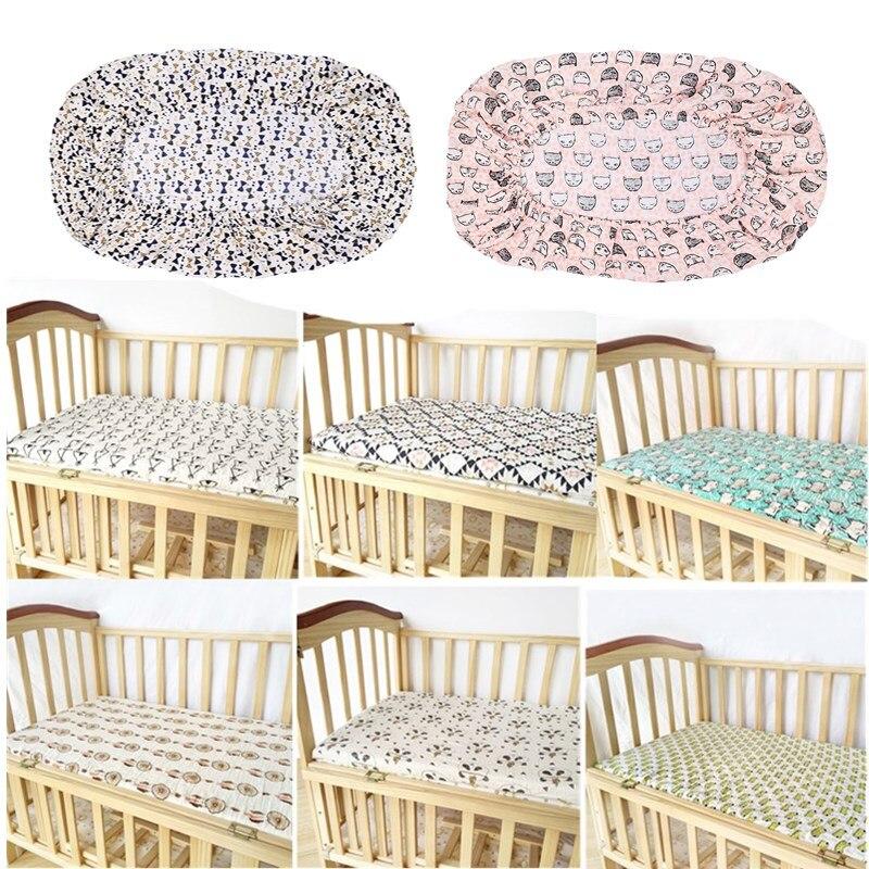 70*130cm Baby Cot Crib Fitted Sheet Bedsheet Bedspread Infant Child Coverlet Kids Coverlid Stretchable Bebe Bedding Set Mattress