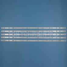 חדש 5 יח\סט 10LED(3V) 842.5mm LED תאורה אחורית רצועת עבור 43PUK4900 43OUH6101 43PFT4131 GJ 2K15 430 D510 17.8MM V4 43PUT4900