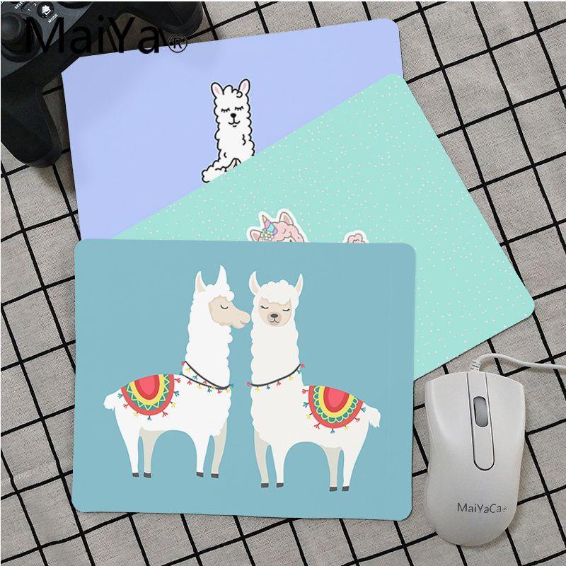 Maiya Top Quality Alpaca Llama Cute Animal Unique Desktop Pad Game Mousepad Top Selling Wholesale Gaming Pad Mouse