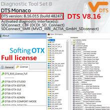 2020.06 última licença completa dts monaco v8.16 para mb estrela c4 sd c5 vci c6 xentry/das baixar e instalar online e ativar