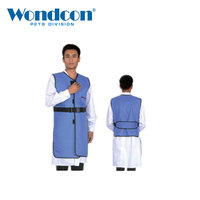Wondcon Veterinary X ray Protection Clothing Apron Flexible Lead Radiation Protection Apron Gel Coat 0.35mmpb Blue
