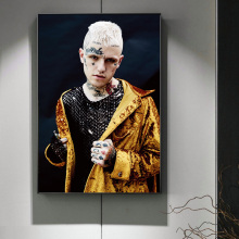 Lil Peep Raper Music Superstar Portrait Posters And Prints Canvas Painting On Wall Art Picture For Living Roon Decoration