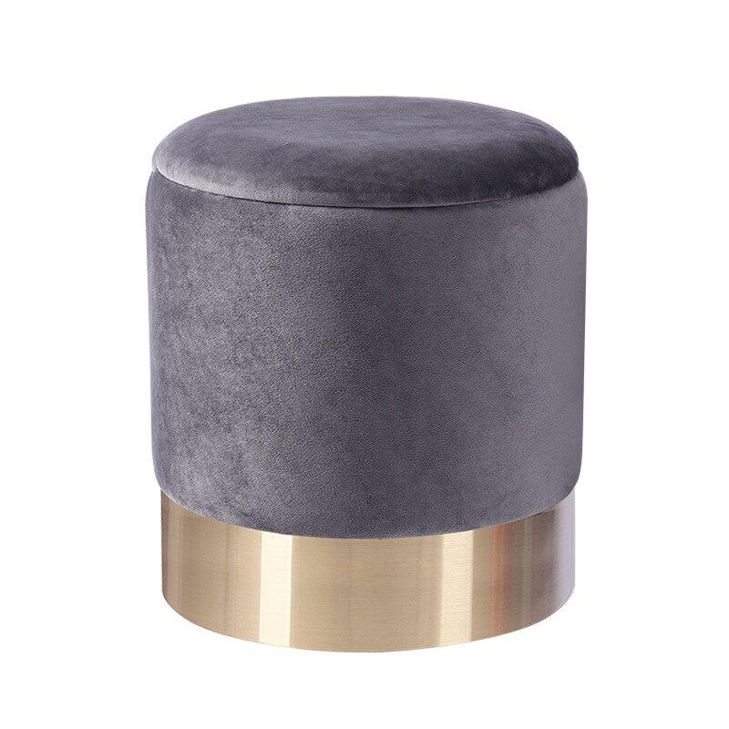 Luxury round sofa stool ottoman storage stool dressing table stool storage stool pouffe pouf size 36x42cm