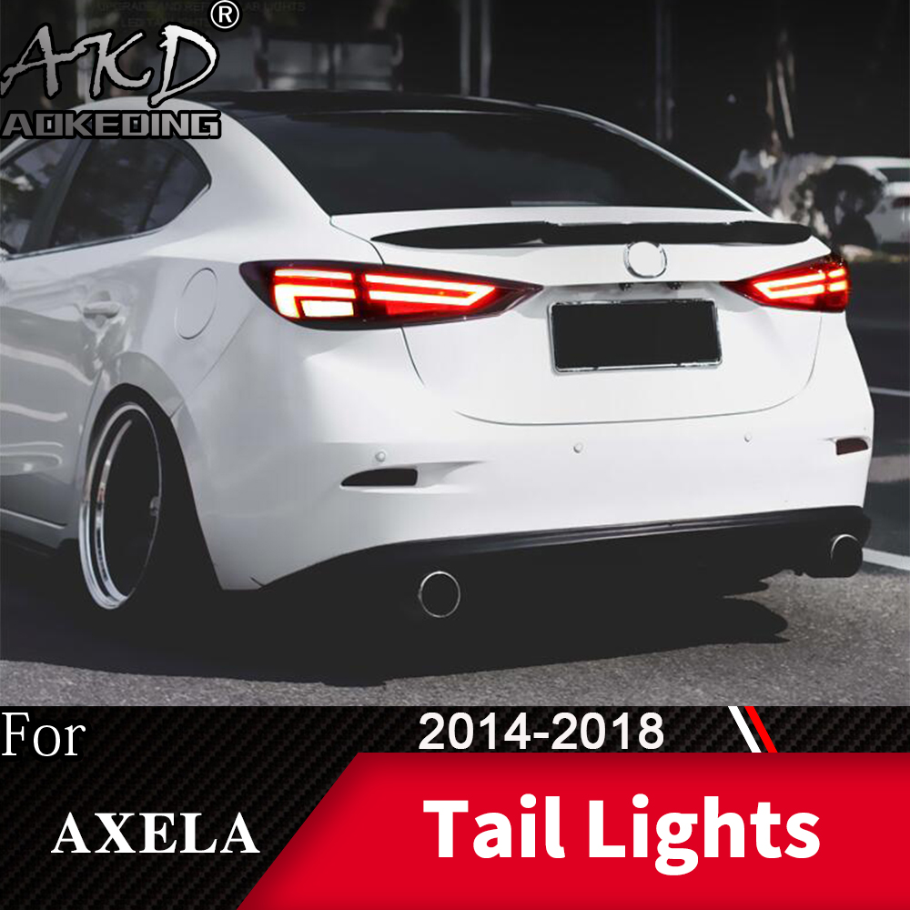 Tail Lamp For Car <font><b>Mazda</b></font> 3 Mazda3 Axela 2014-2018 <font><b>LED</b></font> Tail <font><b>Lights</b></font> Fog <font><b>Lights</b></font> Daytime Running <font><b>Lights</b></font> DRL Cars Car Accessories image