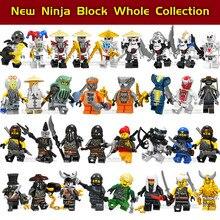 1 шт. ниндзя Кай Джей Коул Зейн Ллойд ня фигурки совместимы с Legoingly Ninja goed для детей строительные блоки детские игрушки подарок