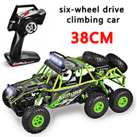 2019 The New Wltoys 18628 rc car 1:18 six wheel drive climbing car 2.4G remote control big foot off road vehicle large size 38cm