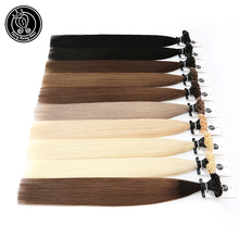 "Fusion Keratin Bond Human Hair Extensions Capsule U Nail Tip Real Remy Pre Bonded Hair Platinum Blonde 16"" 18"" 20"" 0.8g/strand"