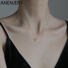 ANENJERY-colliers géométriques pour femmes, ronds, chaîne clavicule, bijoux, meilleurs cadeaux, vente en gros, 2020, nouvelle collection S-N645