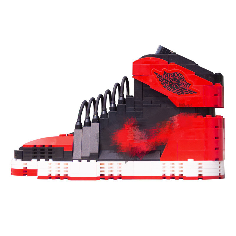 Building Blocks Toys AJ Peripheral Hot Famous Brand Sport <font><b>Shoe</b></font> Bull Chicago Air <font><b>Jordan</b></font>-1 Model Collection For Gifts image