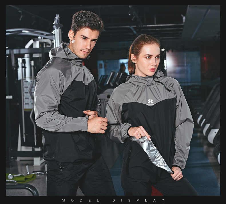 Мужской женский костюм в стиле пэчворк для сауны, тренировочный боксерский трикотажный спортивный комплект, свободный спортивный костюм для фитнеса, бега, тренажерного зала с длинным рукавом