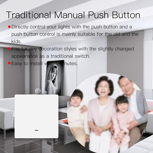 Image 4 - WiFi חכם לדחוף כפתור מתג 2 דרך RF433 קיר פנל משדר ערכת חכם חיים Tuya App בקרת עובד עם alexa Google בית