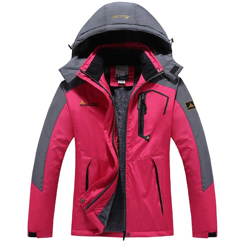 Winter Parka Women Windbreak Velvet Thick Warm Windproof Fur Coats Female Military Hooded Anorak Jackets Girl's Outwear Overcoat