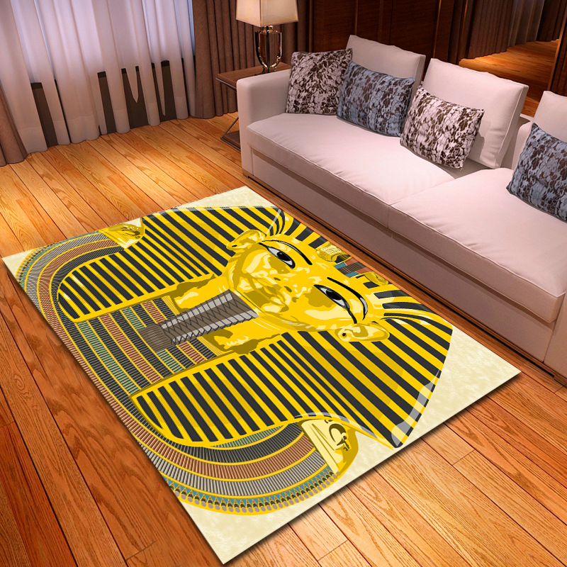 Egyptian Pharaoh 3D Printed Carpets For Living Room Bedroom Large Size Rug Tea Table Antiskid Floor Mat Kids Room Play Area Rugs