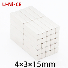 u-ni-ce 5/50 pcs  Powerful N35 Neodymium Magnets 4*3*15mm Super Strong block Diy NdFeB Permanent