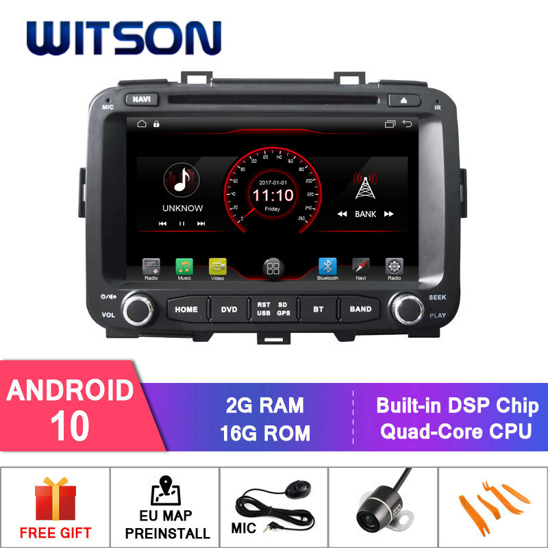 WITSON Android 10 CAR DVD PLAYER FOR KIA CARENS CAR DVD 7 INCH SCREEN 16GB Inand Carplay Dongle (USB Port)(China)