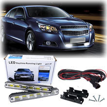 2Pcs/Pair Super White High Power 6 LED Universal Car Light Daytime Running DRL With Turn Signal Hot Sale