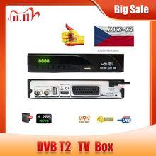 DVB T2 Terrestrial Digital รองรับ H.265/HEVC DVB T H265 Hevc Dvb T2ขายร้อนยุโรปสาธารณรัฐเช็ก DVB T2ชุดกล่องด้านบน