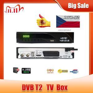 Image 1 - DVB T2 Terrestrial digital receiver supports H.265/HEVC DVB T h265 hevc dvb t2 hot sale Europe Czech Republic DVB T2 set top BOX