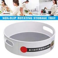 Nuevo organizador de contenedores de almacenamiento giratorio de 360 grados antideslizante para el condimento de los cosméticos de la cocina del hogar