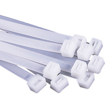 100Pcs 10*1000mm Nylon Cable Ties White Black Self-locking Plastic Wire Zip Tie Kabelbinder 100pcs nc 912 12 3x9 5mm black white stick fixed seat nylon plastic self adhesive tie base car recorder cable wire clamp clip