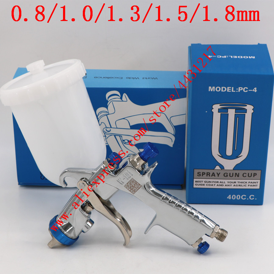 Original Import HVLP W101 Handle Manual 134G Spray Gun W 101 Spray Gun 0.8/1.0/1.3/1.5/1.8mm Car Paint Gun Paint Pistol-in Spray Guns from Tools on