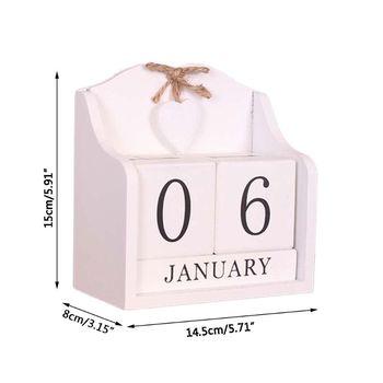 Vintage Vintage Wooden Perpetual Calendar Month Date Display Eternal Blocks Photography Props Desktop Accessories Home Office цена 2017