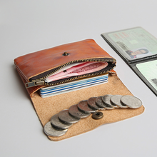 YIFANGZHE Slim Leather Mini Coin Purse ,Wallet Credit Card Case Sleeve Card Holder Bank Credit Card Coin Wallet