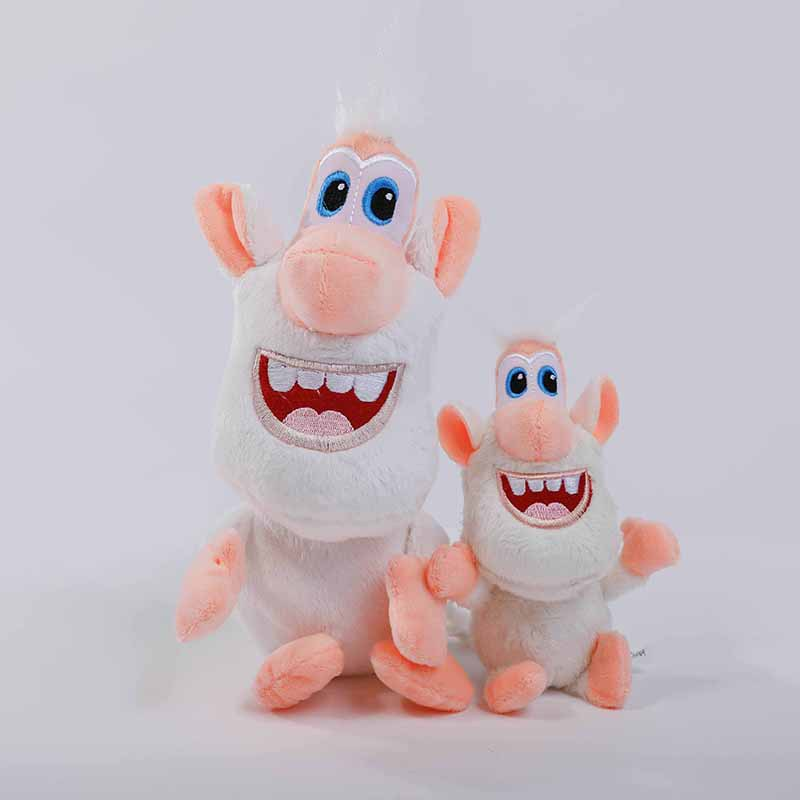 20/30CM Russia White Cooper Happy Pig Cute Anime Booba Buba Plush Toys For Children Gift Soft Doll