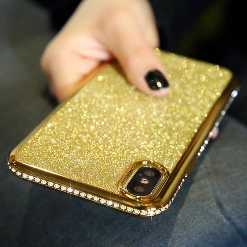 Shiny Bling Diamond Glitter Phone Protective Shell Back Cover for Samsung Models 13