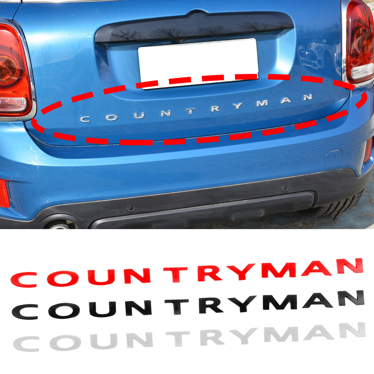 High Quality Car Tail Metal 3D Letters Sticker And Emblem Rear Trunk For MINI Cooper Countryman R60 F60 Car Styling Accessories