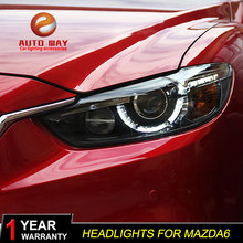 Car Styling for Mazda Atenza Mazda6 Headlights Mazda 6 M6 2013 2016 LED Headlight DRL Lens Double Beam HID Xenon Car Accessories